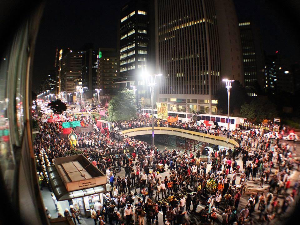 Protestos tomaram as ruas de São Paulo durante o 15M (Foto: Guerrilha GRR)