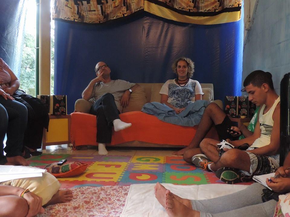 Biblioteca Comunitária Caminhos da Leitura, no bairro de Parelheiros (Foto: Divulgação)