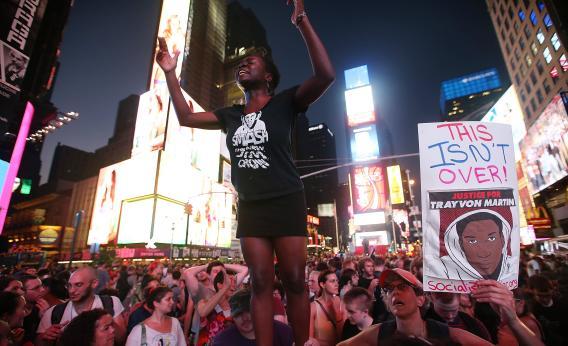 Protesto em 2012 nos EUA