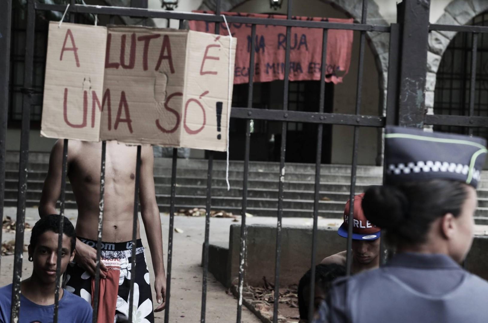 Escola Estadual ocupada em pinheiros, mesma região que ocorreram as ações do MIA -  Raphael Sanz