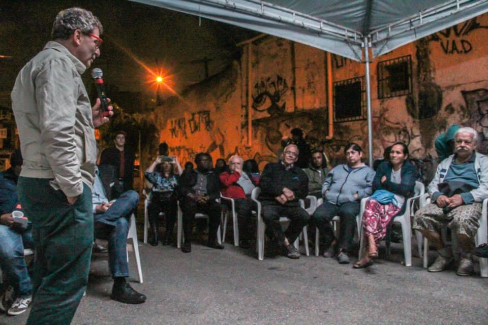 Nabil Bonduki, ex-Secretário de Cultura da cidade de São Paulo, em evento realizado no Morro do Querosene