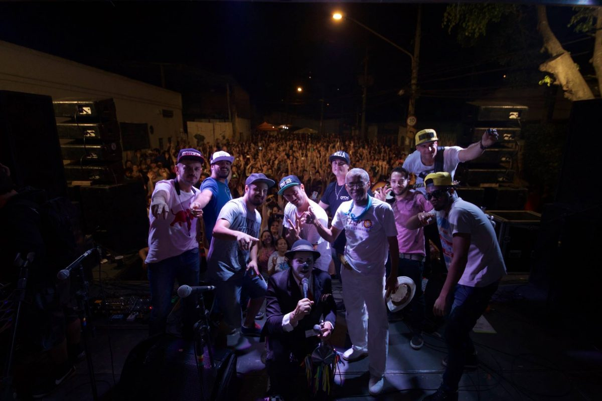 Banda Planta e Raiz, no FAMQ, em agosto de 2015 (Foto: André Zuccolo)